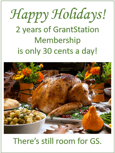 2 Years of GrantStation Membership is only 30 cents a day