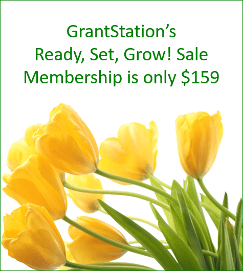 GrantStation's Ready, Set, Grow! Sale Membership is only $159