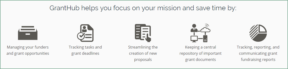 GrantHub helps you focus your mission and save time by